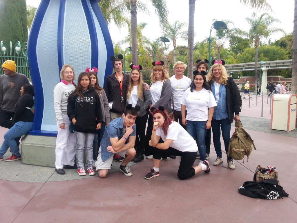 Youth Group at Disneyland